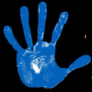 large handprint